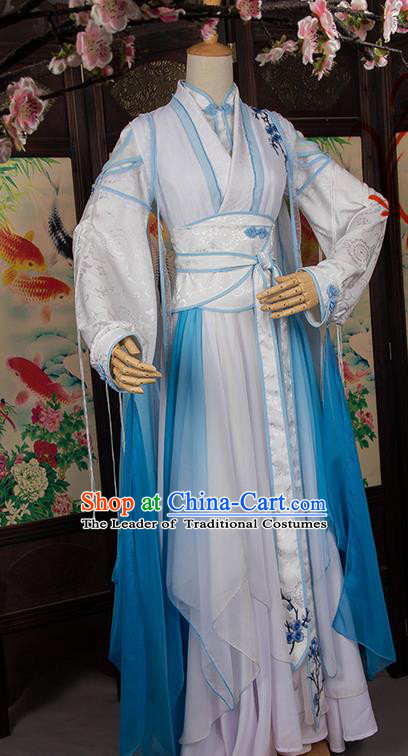 Traditional Chinese Han Dynasty Nobility Lady Costume, Elegant Hanfu Cosplay Imperial Princess Clothing Ancient Chinese Swordswoman Dress for Women