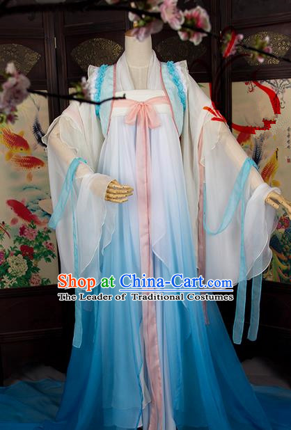 Traditional Chinese Tang Dynasty Imperial Princess Costume, Elegant Hanfu Cosplay Clothing Ancient Chinese Palace Lady Dress for Women