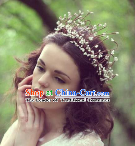 Top Grade Chinese Theatrical Traditional Ornamental Hair Crown, Brazilian Carnival Halloween Occasions Handmade Bride Headwear for Women