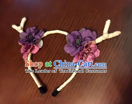 Top Grade Miami Deluxe Hair Accessories Flowers Hair Clasp, Halloween Headdress Brazilian Carnival Occasions Handmade Antlers Headwear for Women