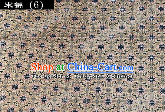Asian Chinese Traditional Embroidered Flowers Song Brocade Silk Fabric, Top Grade Satin Tang Suit Hanfu Dress Fabric Cheongsam Cloth Material