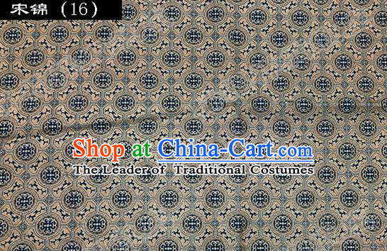 Asian Chinese Traditional Embroidered Song Brocade Silk Fabric, Top Grade Satin Tang Suit Hanfu Dress Fabric Cheongsam Cloth Material