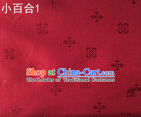 Asian Chinese Traditional Jacquard Weave Satin Red Silk Fabric, Top Grade Brocade Tang Suit Hanfu Dress Fabric Cheongsam Cloth Material