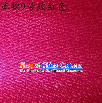 Asian Chinese Traditional Jacquard Weave Rosy Xiuhe Suit Satin Silk Fabric, Top Grade Brocade Tang Suit Hanfu Dress Fabric Cheongsam Cloth Material