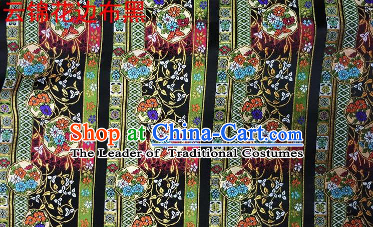 Asian Chinese Traditional Embroidery Satin Silk Fabric, Top Grade Green Nanjing Brocade Tang Suit Hanfu Fabric Cheongsam Cloth Material