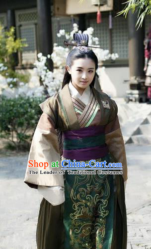 Asian Chinese Traditional Ming Dynasty Prince Costume and Headpiece Complete Set, China Elegant Hanfu Nobility Childe Embroidered Robes for Men