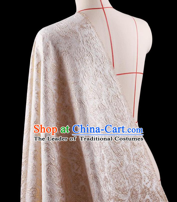 Traditional Asian Chinese Handmade Embroidery Flowers Coat Silk Tapestry Pink Fabric Drapery, Top Grade Nanjing Brocade Ancient Costume Cheongsam Cloth Material