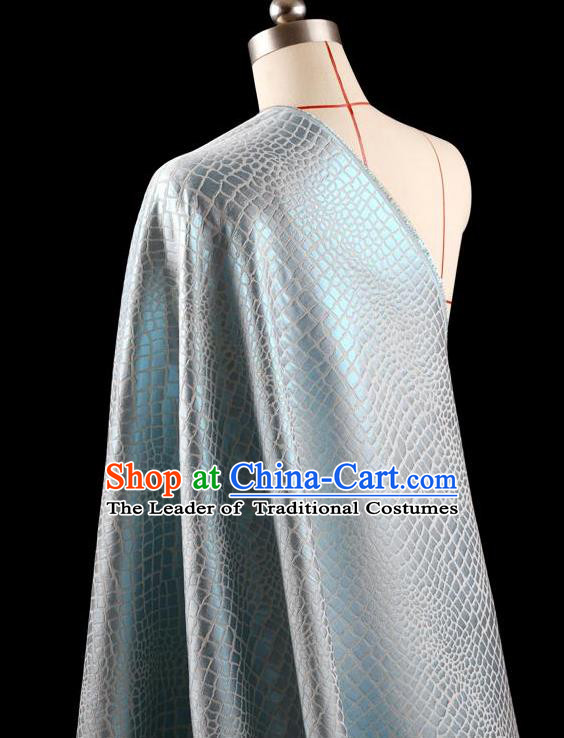 Traditional Asian Chinese Handmade Embroidery Coat Silk Tapestry Blue Fabric Drapery, Top Grade Nanjing Brocade Ancient Costume Cheongsam Cloth Material