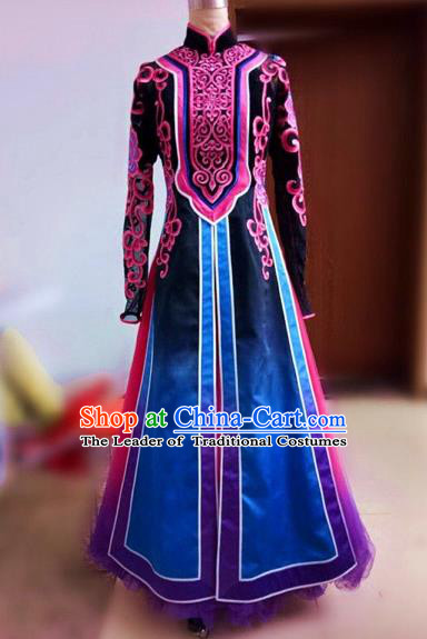 Traditional Chinese Uyghur Nationality Dance Costume, Folk Dance Ethnic Costume, Chinese Minority Nationality Uigurian Dance Costume for Women