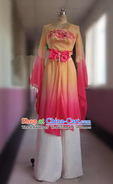 Traditional Ancient Chinese National Folk Dance Uniform, Elegant Hanfu China Princess Classical Dance Dress Clothing for Women