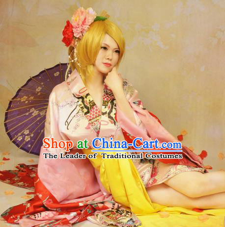 Asian Chinese Traditional Cospaly Tang Dynasty Imperial Consort Costume and Wigs, China Elegant Hanfu Princess Dress for Women