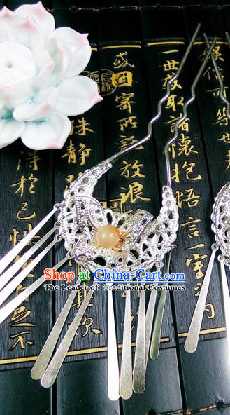 Traditional Handmade Chinese Ancient Classical Hair Accessories, Step Shake Hair Sticks, Hair Fascinators Hairpins for Women