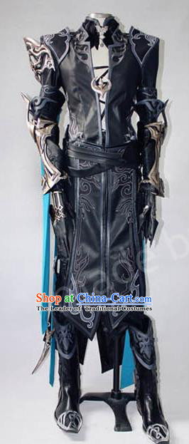 Asian Chinese Traditional Cospaly Customization Ming Dynasty Swordsman Tabard Costume, China Elegant Hanfu Knight-errant General Embroidered Clothing for Men