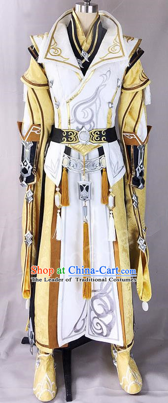 Asian Chinese Traditional Cospaly Customization Ming Dynasty Swordsman Costume, China Elegant Hanfu Knight-errant Embroidered Clothing for Men