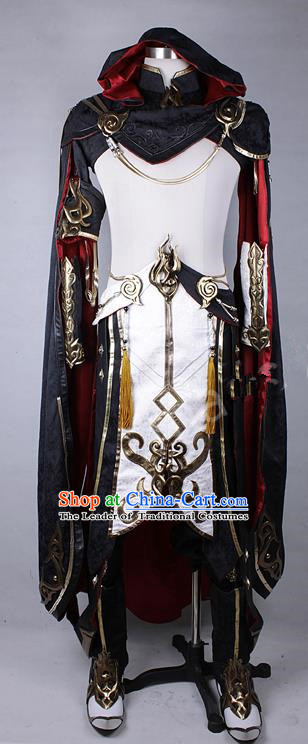 Asian Chinese Traditional Cospaly Costume Customization Ming Dynasty General Costume, China Elegant Hanfu Kawaler Clothing for Men