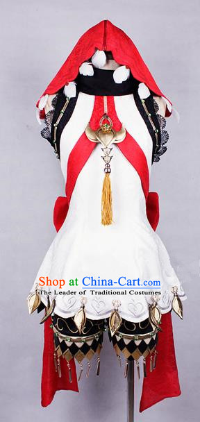Asian Chinese Traditional Cospaly Costume Customization Ancient Zoroastrianism Young Lady Costume Complete Set, China Elegant Hanfu Princess Dress Clothing for Women