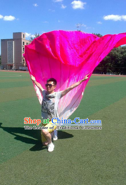 Pure Silk Traditional Chinese Fans Oriental Peony Flowers Large Folding Fan Folk Dance Cultural Yangko Dance Hand Fan
