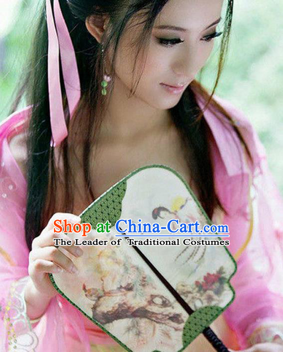 Traditional Chinese Crafts Beauty Fan China Palace Fan Imperial Consort Fans for Women