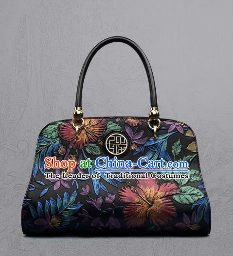 Traditional Handmade Asian Chinese Element Clutch Bags Shoulder Bag National Knurling Handbag for Women