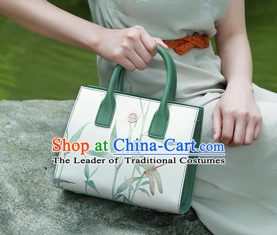 Traditional Handmade Asian Chinese Element Clutch Bags Shoulder Bag National Painting Handbag for Women