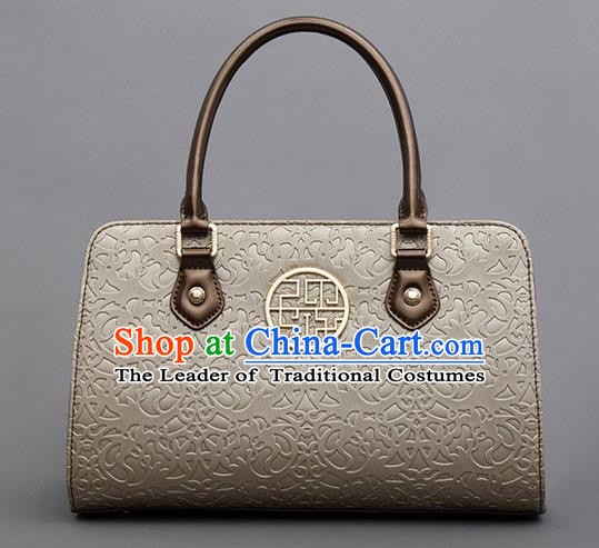 Traditional Handmade Asian Chinese Element Knurling Clutch Bags Shoulder Bag National Champaign Gold Handbag for Women