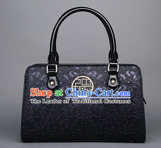 Traditional Handmade Asian Chinese Element Knurling Clutch Bags Shoulder Bag National Purple Handbag for Women