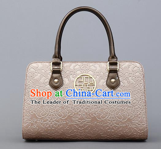 Traditional Handmade Asian Chinese Element Knurling Clutch Bags Shoulder Bag National Pink Handbag for Women