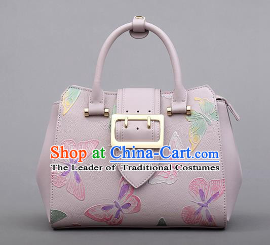 Traditional Handmade Asian Chinese Element Clutch Bags Shoulder Bag National Knurling Butterfly Handbag for Women