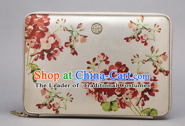Traditional Handmade Asian Chinese Element Printing Wallet National Handbag Purse for Women