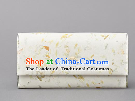 Traditional Handmade Asian Chinese Element Printing Folding Wallet National Handbag Purse for Women