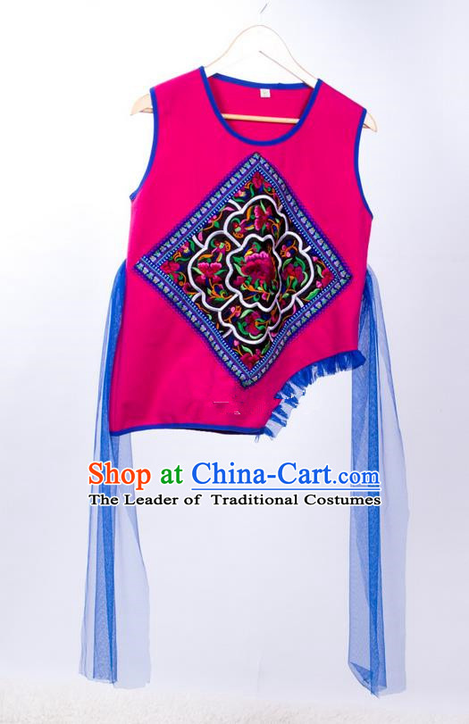 Traditional Chinese National Costume Vest, Elegant Hanfu Embroidered Tang Suit Waistcoat for Women