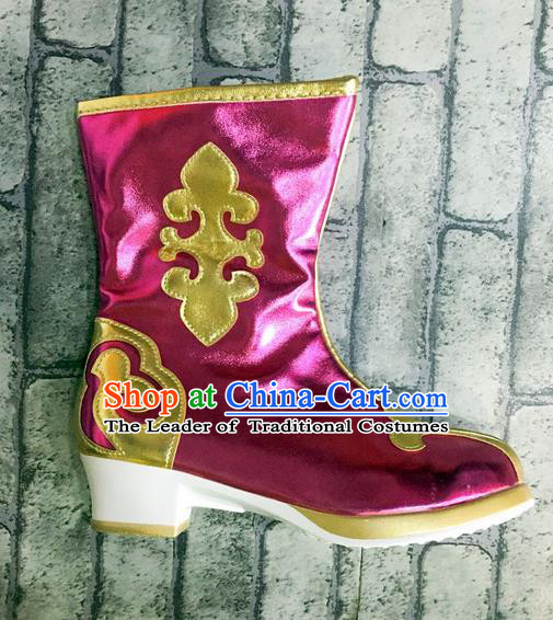 Traditional Chinese Minority Mongol Nationality Ethnic Minorities Mongolian Boots Mongolian Jockey Boots Tanks Boots for Kids