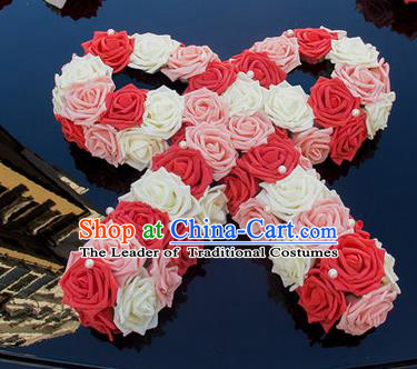 Top Grade Wedding Accessories Decoration, China Style Wedding Car Ornament Flowers