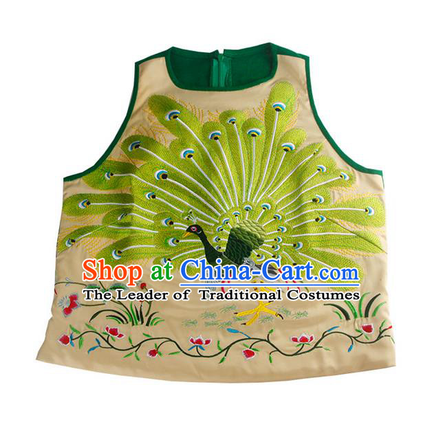 Traditional Ancient Chinese National Costume, Elegant Hanfu Vest Shirt, China Tang Suit Embroidery Blouse Camisole Shirts Clothing for Women