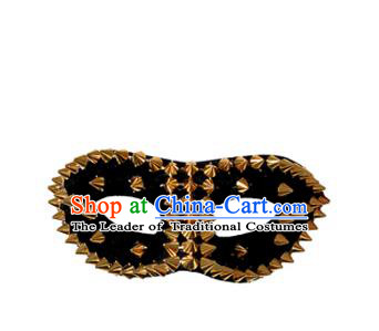 Top Grade Halloween Masquerade Accessories Mask, Brazilian Carnival Black Rivet Mask for Men