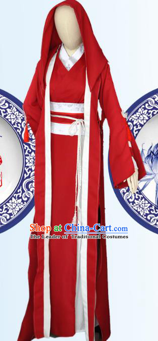 Chinese Ancient Cosplay Han Dynasty Murderess Costumes, Chinese Traditional Dress Clothing Chinese Cosplay Swordsman Costume for Women