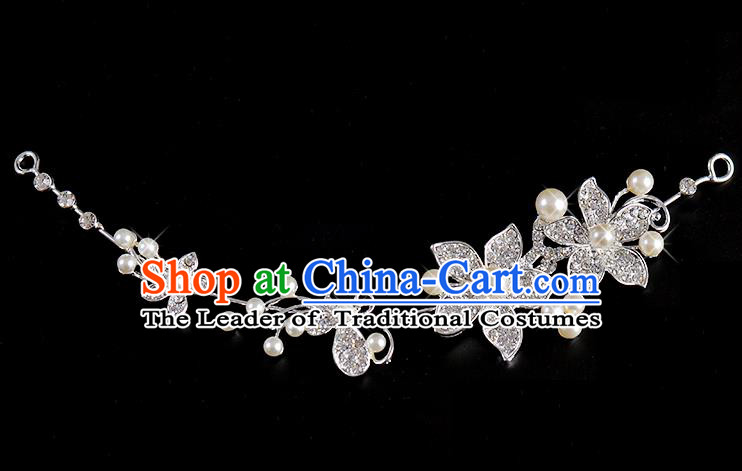 Top Grade Handmade Chinese Classical Hair Accessories Baroque Style Wedding Crystal Hair Clasp Headband Bride Headwear for Women