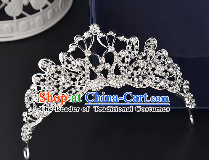 Top Grade Handmade Hair Accessories Baroque Style Wedding Crystal Butterfly Royal Crown, Bride Princess Hair Kether Jewellery Hair Clasp for Women