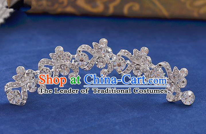 Top Grade Handmade Chinese Classical Hair Accessories Princess Wedding Crystal Hair Comb Hair Stick Headband Bride Headwear for Women