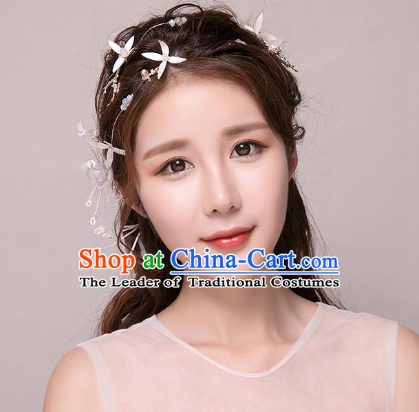 Top Grade Handmade Chinese Classical Hair Accessories Princess Wedding Hair Clasp Headband Bride Headwear for Women