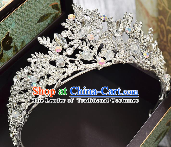 Top Grade Handmade Hair Accessories Baroque Style Wedding Full Dress Princess Crystal Royal Crown, Bride Hair Kether Jewellery Imperial Crown for Women
