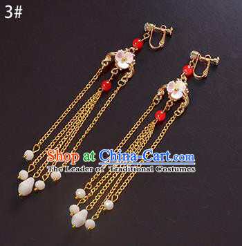 Top Grade Handmade Chinese Classical Jewelry Accessories Xiuhe Suit Wedding Tassel Earrings Bride Hanfu Eardrop for Women