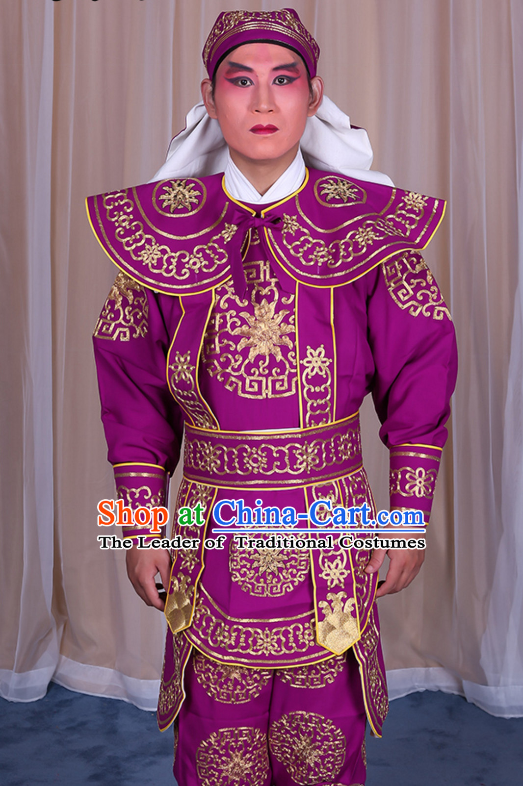 Chinese Traditional Wusheng Opera Costumes Complete Set for Men