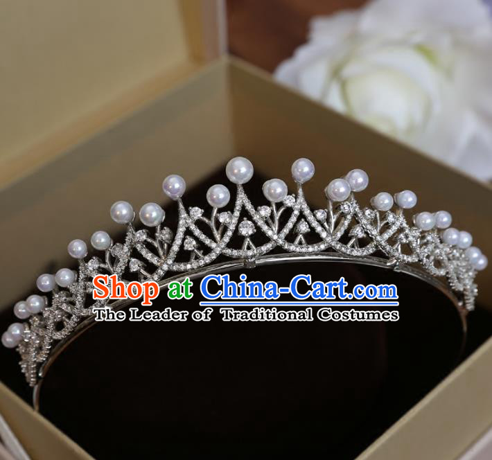 Top Grade Handmade Hair Accessories Baroque Crystal Imperial Crown, Bride Wedding Hair Jewellery Princess Crown for Women