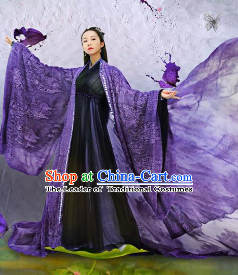 Traditional Chinese Southern and Northern Dynasties Saintess Princess Costume, Lost Love In Times Chinese Ancient Fairy Hanfu Dress for Women