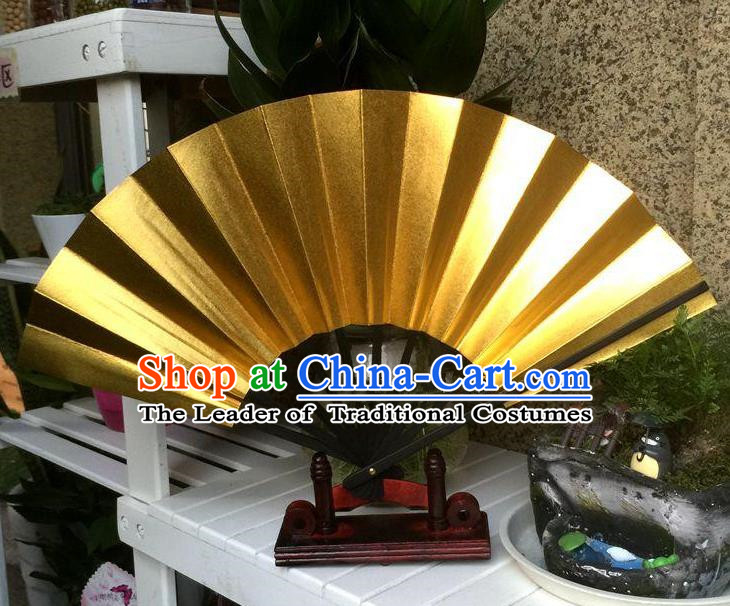 Traditional Chinese Crafts Folding Fan China Sensu Golden Fan