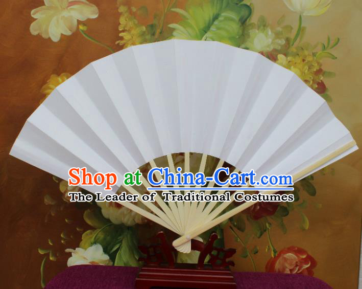 Traditional Chinese Crafts Folding Fan China Sensu White Paper Fan