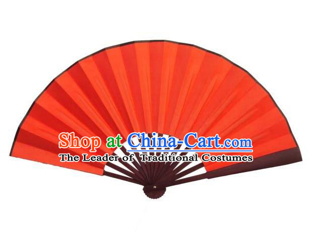 Traditional Chinese Crafts Peking Opera Folding Fan China Sensu Handmade Chinese Red Silk Dance Fan for Women