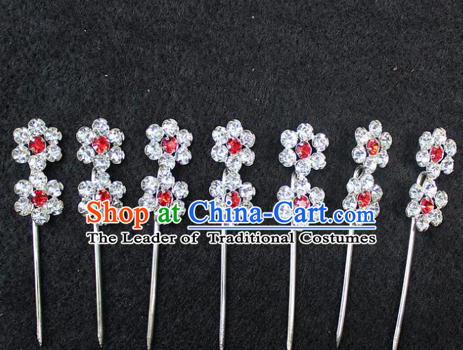 Traditional China Beijing Opera Young Lady Hair Accessories Diva Head-ornaments, Ancient Chinese Peking Opera Hua Tan Headwear Plum Blossom Hairpins