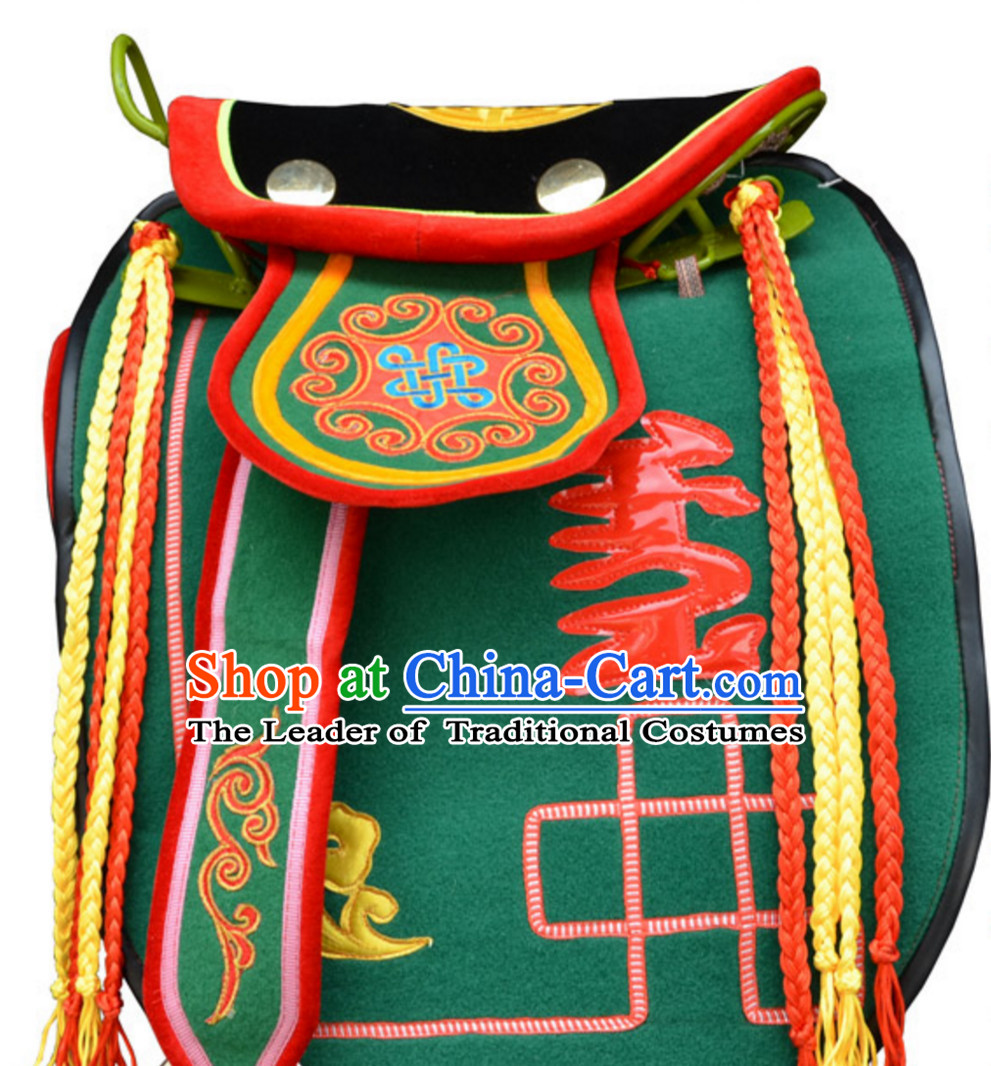 Traditional Chinese Classical Style Handmade Mongolian Saddle Covering Horse Track Set